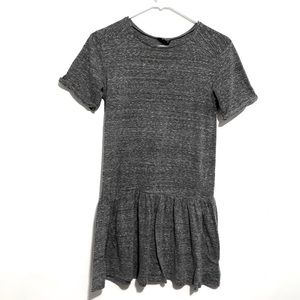 Topshop Size 4 Marled Gray Peplum Shirt Dress EUC